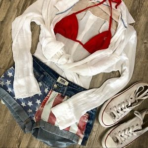 Victoria's Secret PINK American Flag Shorts